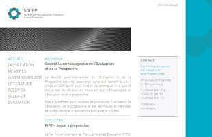 solep.lu société luxembourgeoise de l'evaluation et de la prospective