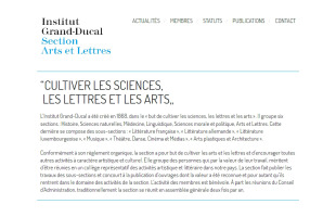 INSTITUT GRAND-DUCAL Section des Arts et Lettres